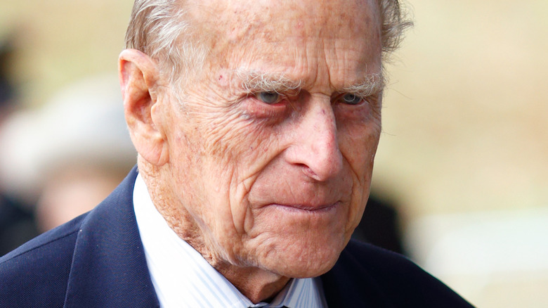 Prince Philip squinting
