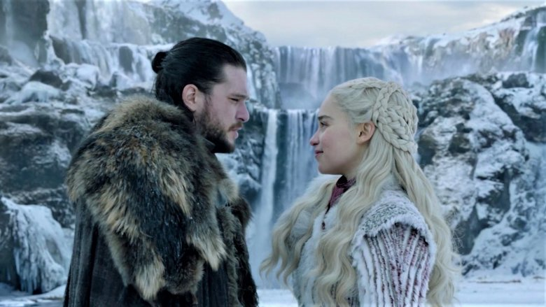 Kit Harrington and Emilia Clarke in season 8 opener