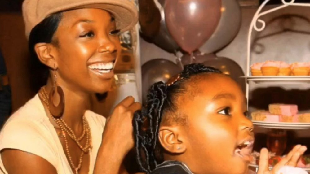 Brandy posted a throwback photo with her daughter Sy'rai