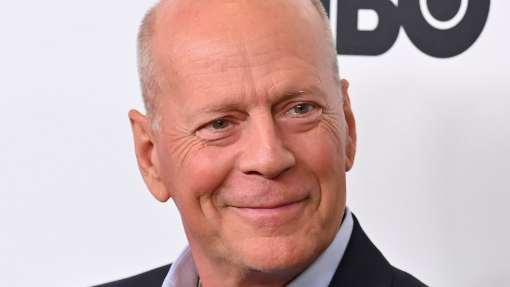 "Bruce Willis attends the premiere of ""Motherless Brooklyn"" during the 57th New York Film Festival at Alice Tully Hall"