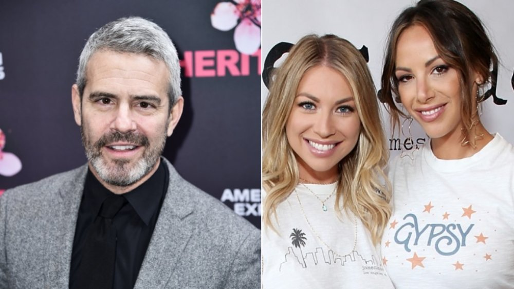 Andy Cohen, Stassi Schroeder, and Kristen Doute