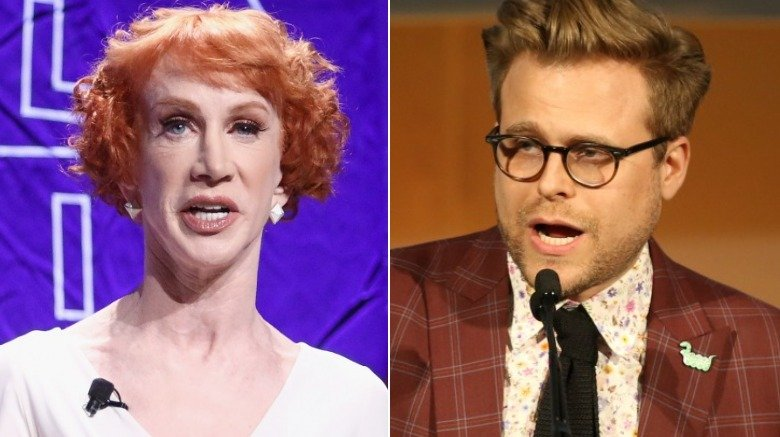 Kathy Griffin and Adam Conover