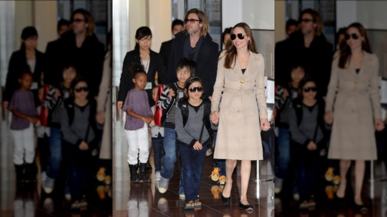 Angelina Jolie, Brad Pitt, and family