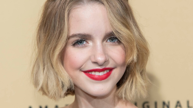 Mckenna Grace red lipstick