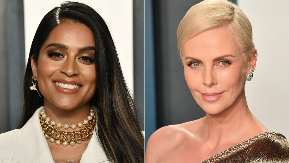 Lilly Singh and Charlize Theron