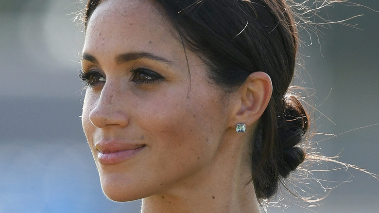 Meghan Markle looking off into the distance