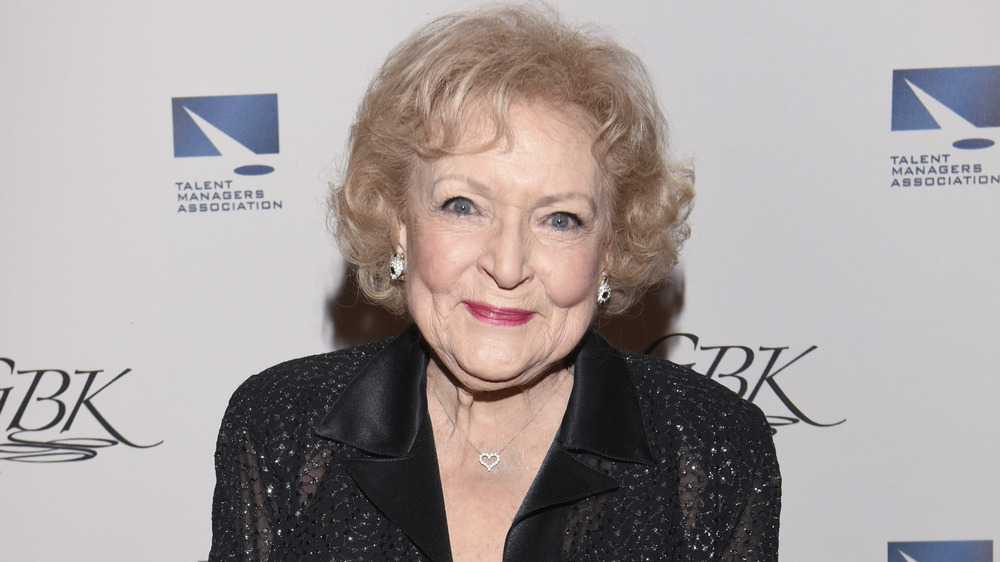 Betty White smiling on the red carpet