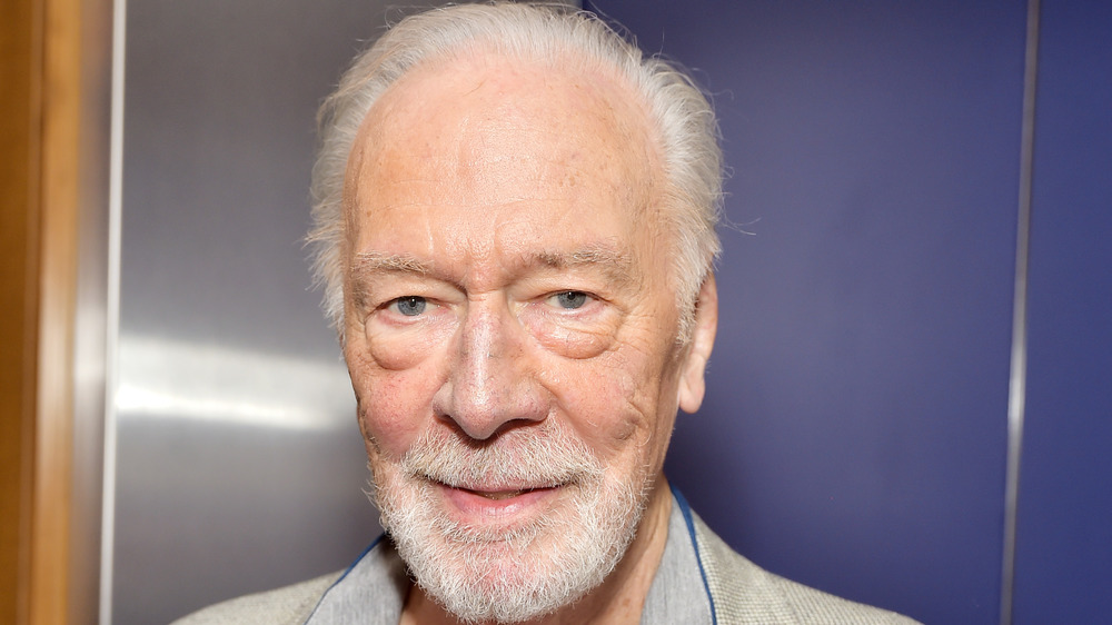 Christopher Plummer with white hair