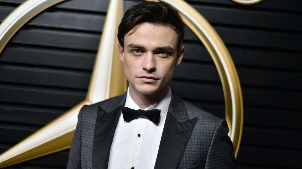 Thomas Doherty attends the 2020 Mercedes-Benz Annual Academy viewing party