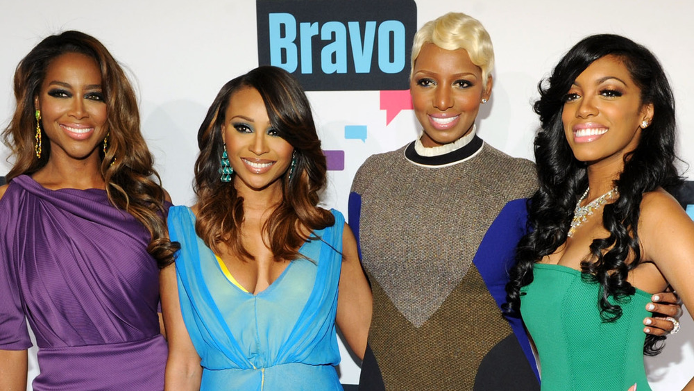 he cast of The Real Housewives of Atlanta attend the 2013 Bravo New York Upfront