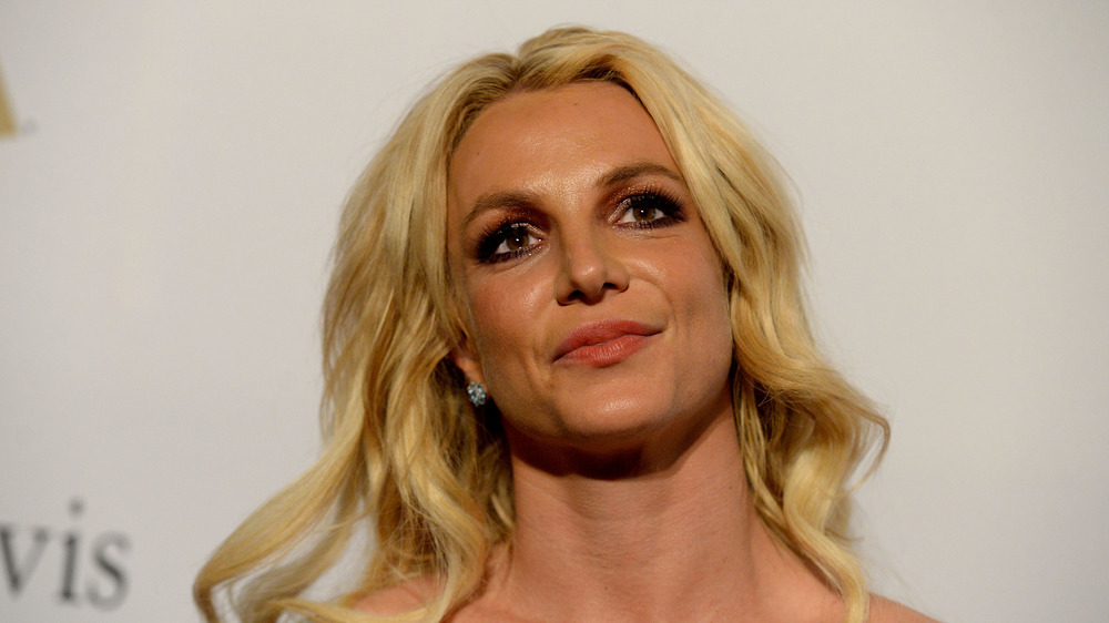 Britney Spears frowning