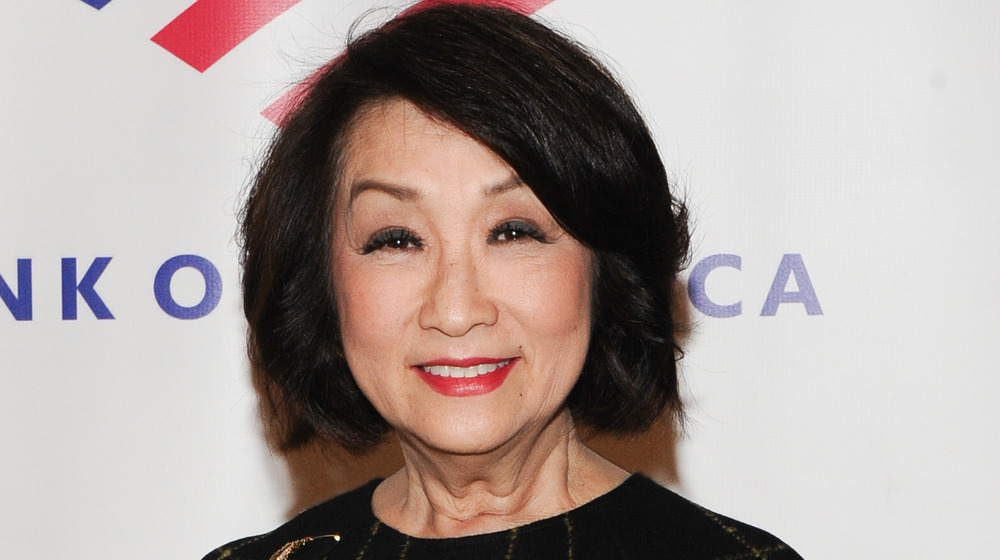 Connie Chung on red carpet