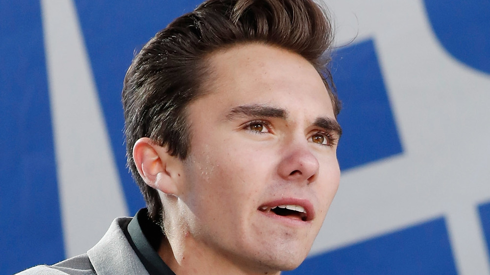 David Hogg speaking at an event