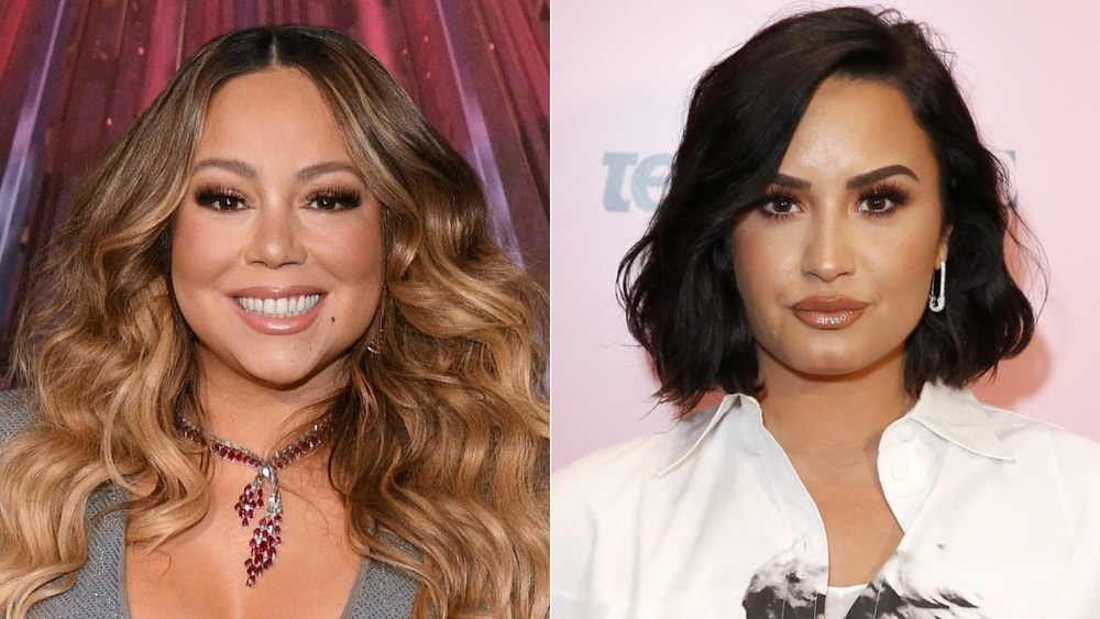 Mariah Carey at the All I Want for Christmas Is You 25th anniversary; Demi Lovato at the Teen Vogue Summit 2019