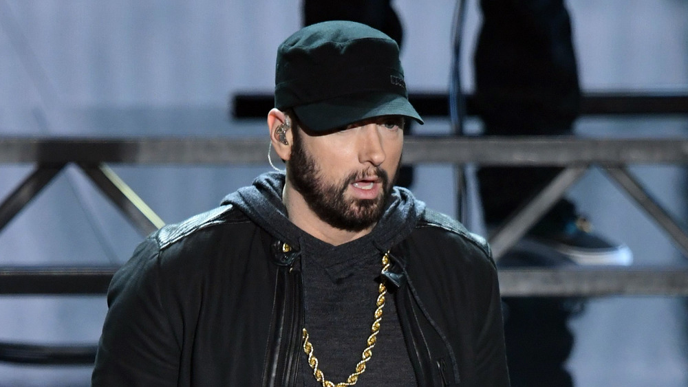 Eminem performing at the Oscars