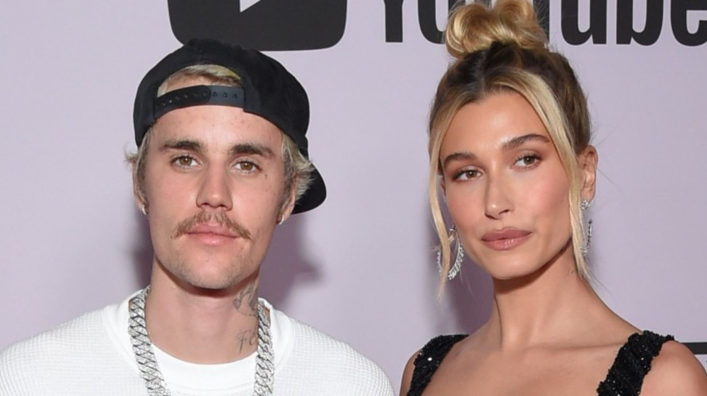 Justin Bieber and Hailey Bieber on the red carpet