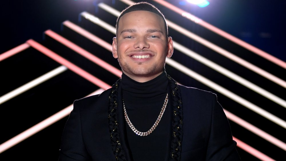 Kane Brown smiling at the CMT Awards
