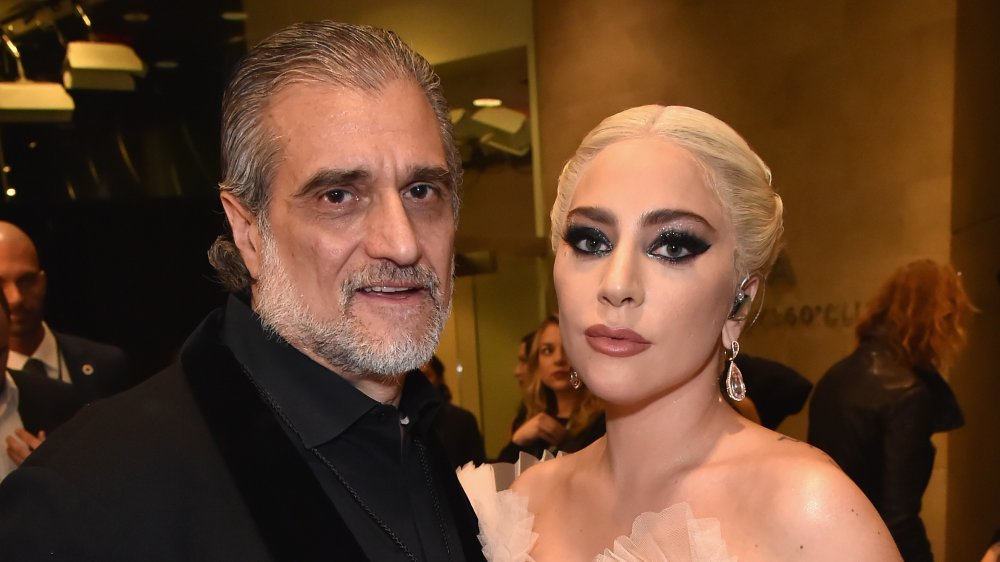 Joe Germanotta and Lady Gaga at formal event