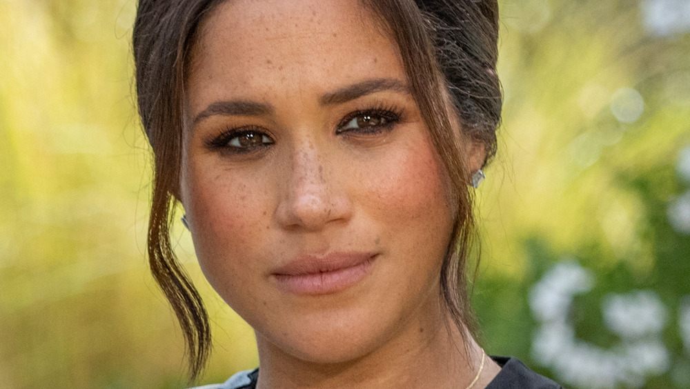 Meghan Markle staring into space