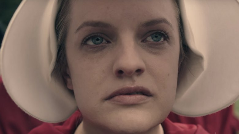 Elisabeth Moss as Offred in The Handmaid\'s Tale