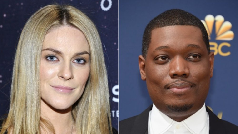 Split image of Leah McSweeney and Michael Che