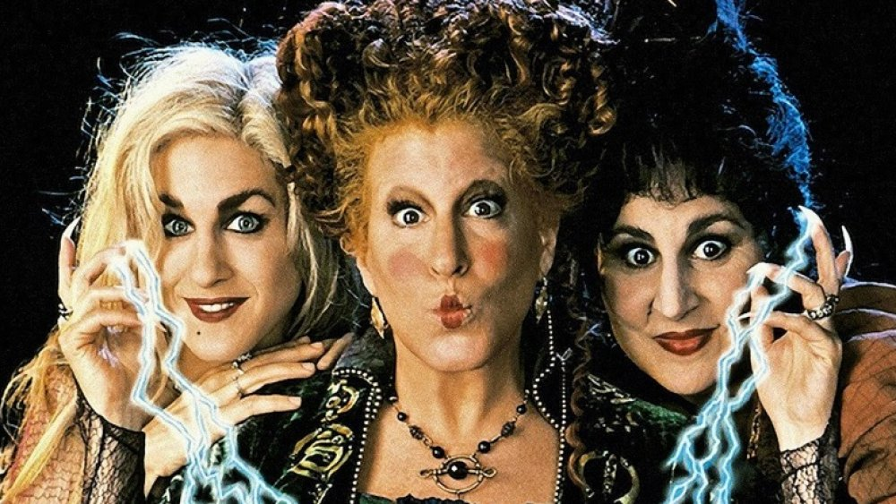 Sarah Jessica Parker, Bette Midler, and Kathy Najimy in a Hocus Pocus promo shot